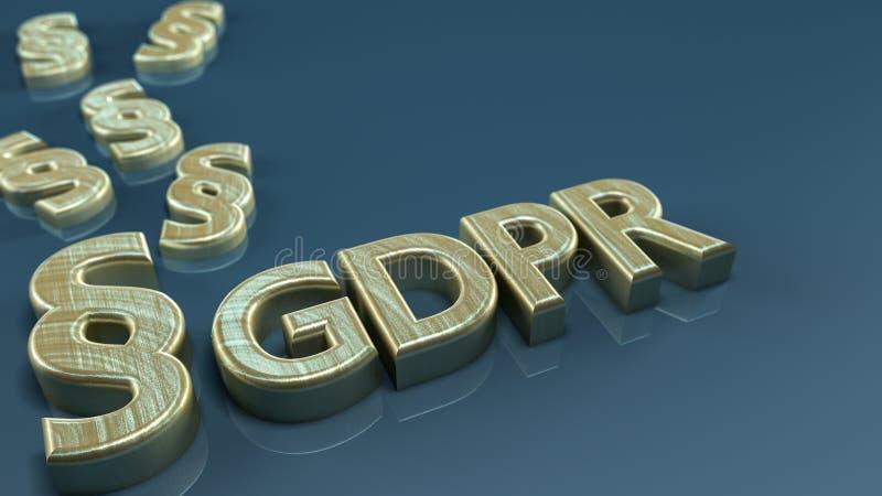 GDPR-concept royalty-vrije illustratie