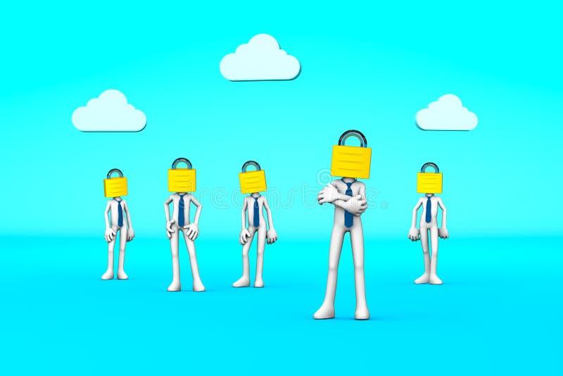 GDPR concept stock illustration