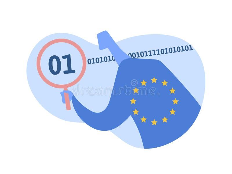 GDPR, concepten vectorillustratie Algemene Gegevensbeschermingverordening DPO, Functionaris voor gegevensbescherming die werken m vector illustratie
