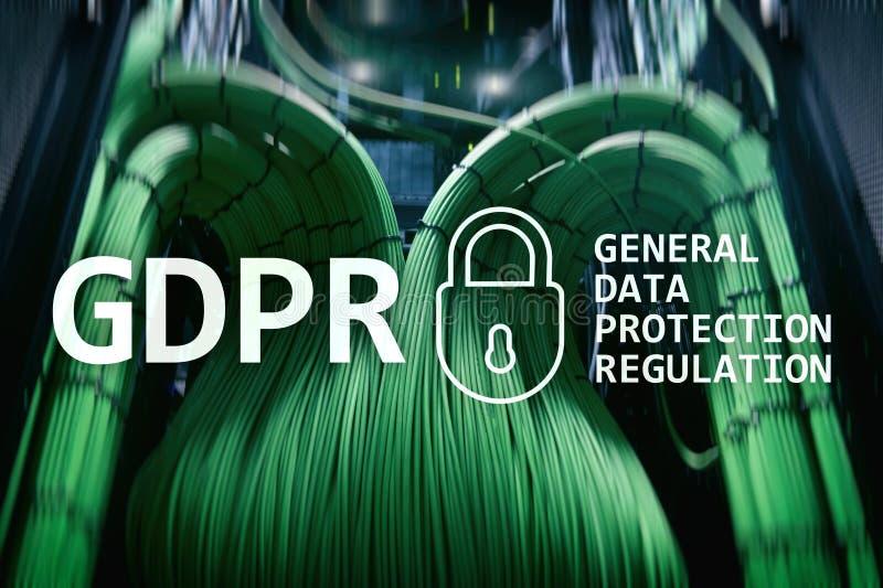 GDPR, conformidad general de la regulación de la protección de datos Fondo del sitio del servidor imagen de archivo
