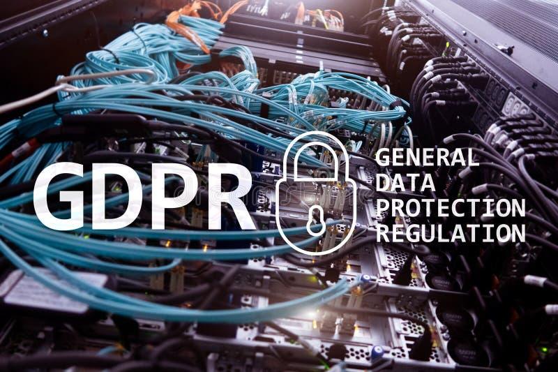 GDPR, conformidad general de la regulación de la protección de datos Fondo del sitio del servidor imagen de archivo libre de regalías