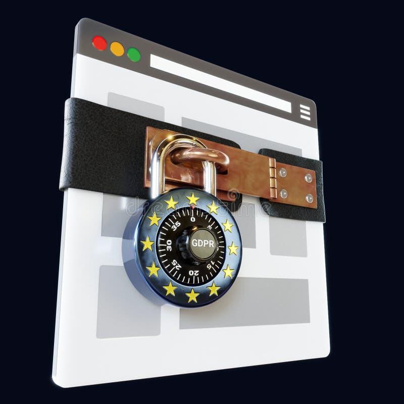GDPR ePrivacy Copyright zarządzenie zdjęcie stock