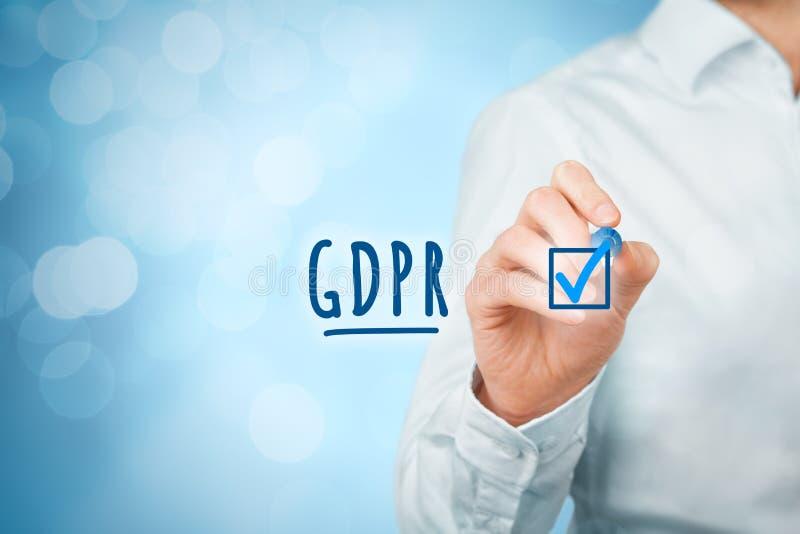GDPR est mis en application image stock