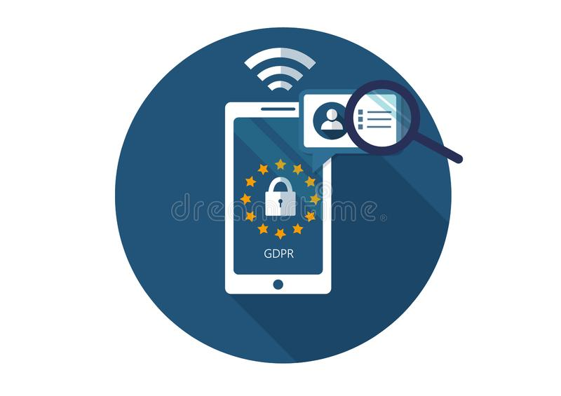 GDPR. Flat vector illustration. General Data Protection Regulation. Protection of personal information. vector illustration