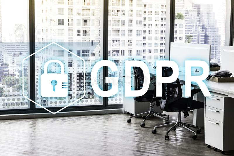 GDPR Gegevensbeschermingverordening Cyberveiligheid en privacyconcept royalty-vrije stock afbeeldingen
