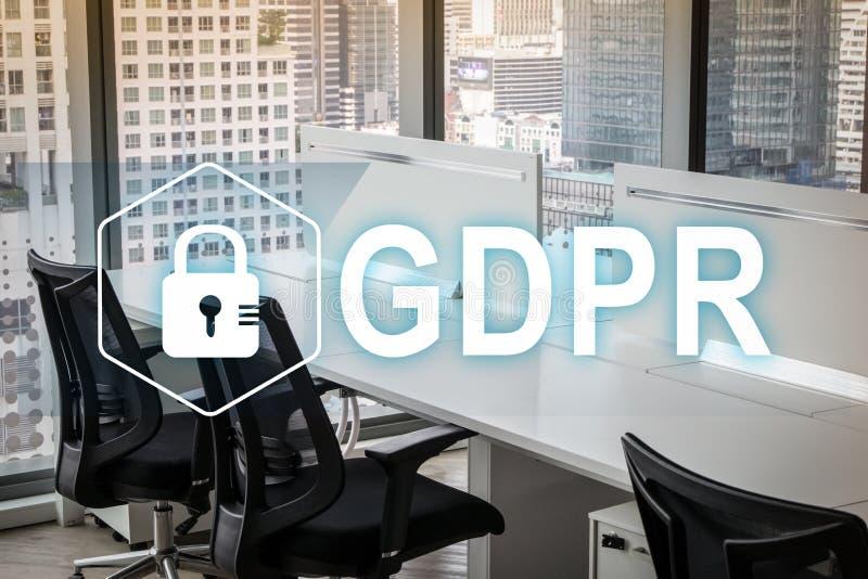 GDPR Gegevensbeschermingverordening Cyberveiligheid en privacyconcept stock foto
