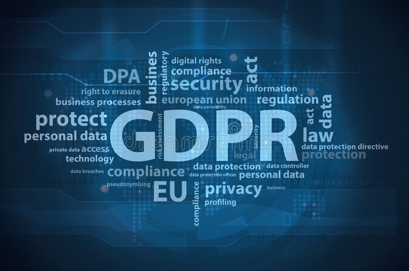 GDPR general data protection regulation stock illustration