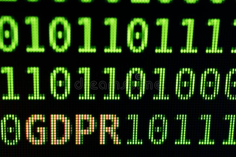 GDPR General Data Protection Regulation concept. royalty free stock image