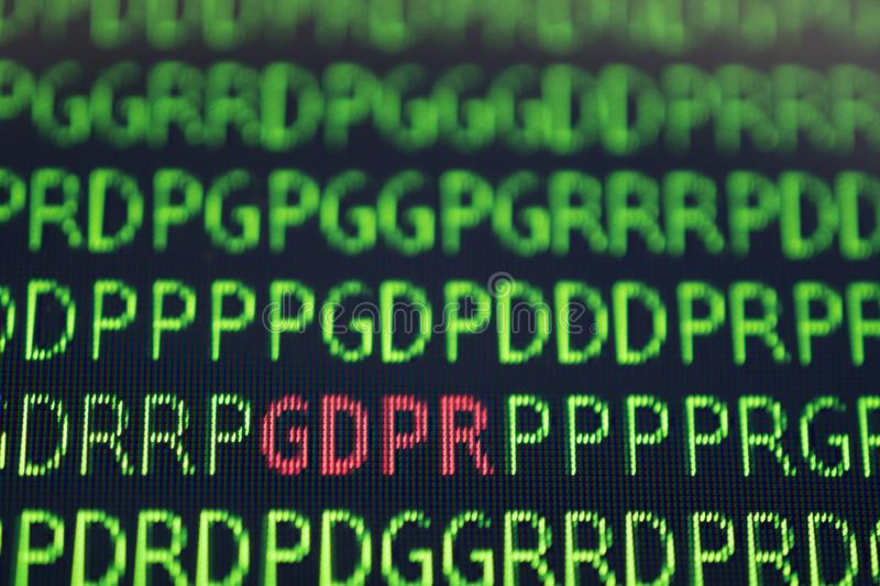 GDPR General Data Protection Regulation concept. stock photography