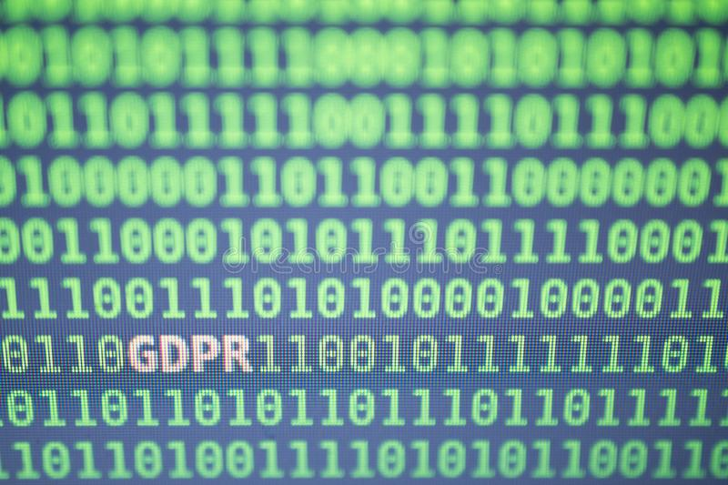 GDPR General Data Protection Regulation concept. royalty free stock photos