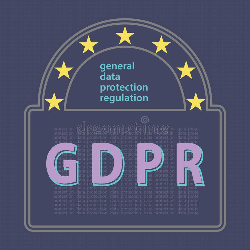 Free GDPR General Data Protection Regulation Concept Vector Illustrat Stock Image - 117083121