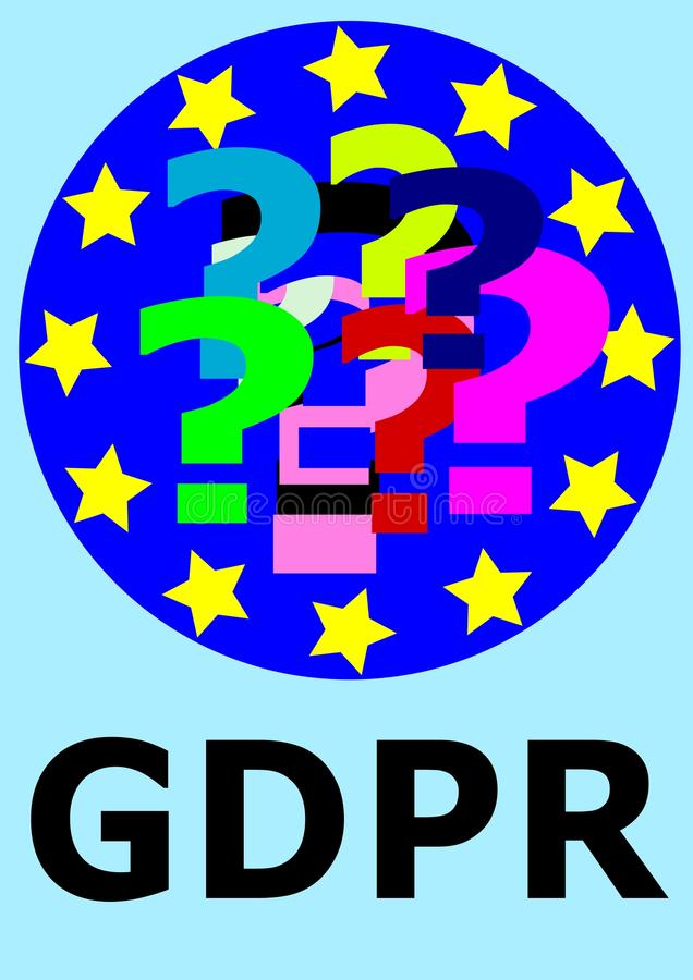 GDPR General Data Protection Regulation. This is a directive of vector illustration