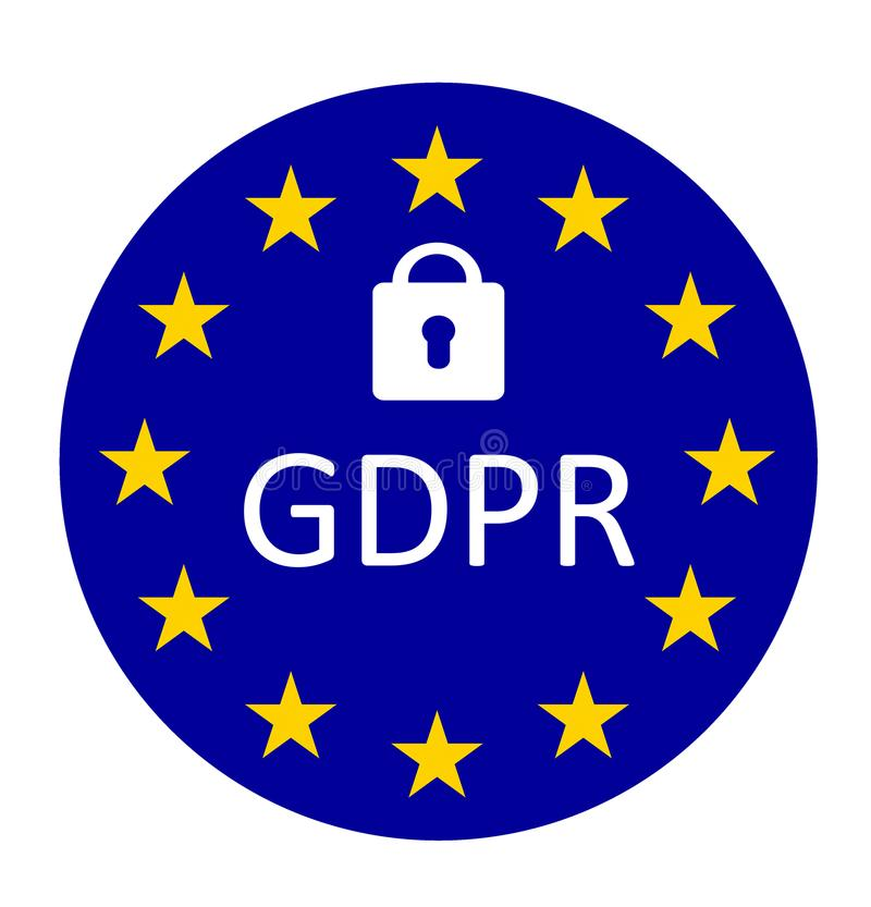 GDPR general data protection regulation vector illustration