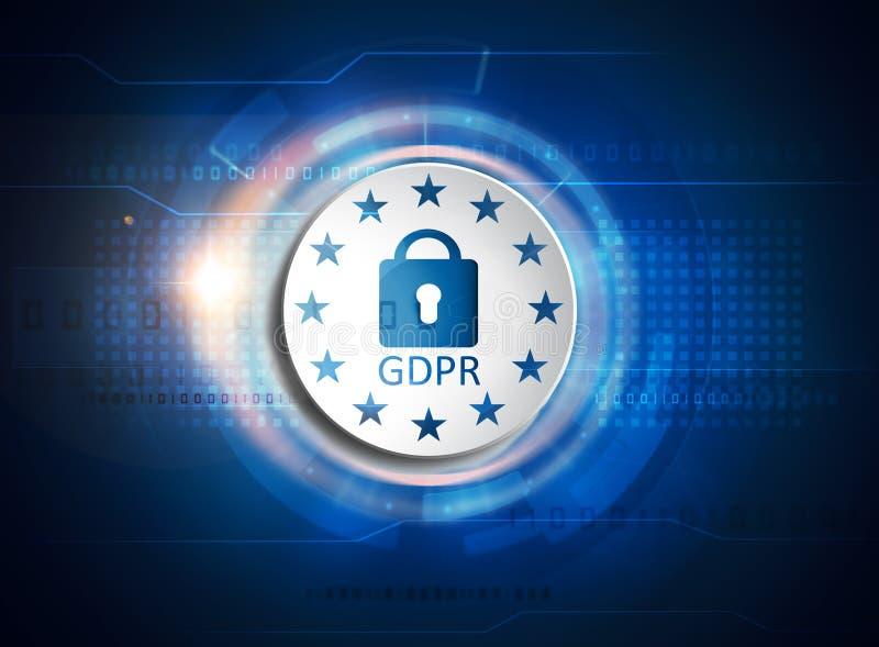 GDPR general data protection regulation royalty free illustration