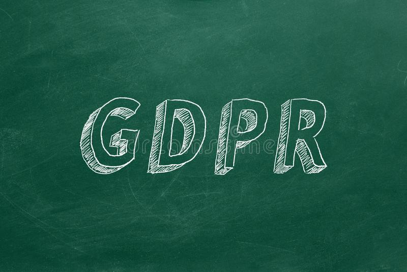 GDPR stock fotografie