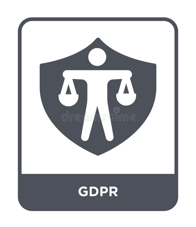 Gdpr icon in trendy design style. gdpr icon isolated on white background. gdpr vector icon simple and modern flat symbol for web. Site, mobile, logo, app, UI vector illustration