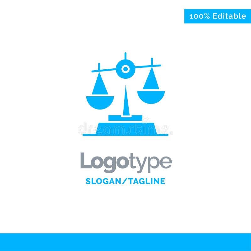Gdpr, justicia, ley, balanza Logo Template sólido azul Lugar para el Tagline libre illustration