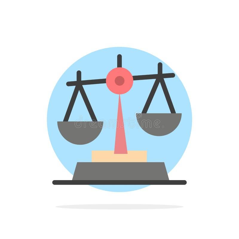 Gdpr, justicia, ley, icono plano del color de fondo abstracto del círculo de la balanza libre illustration