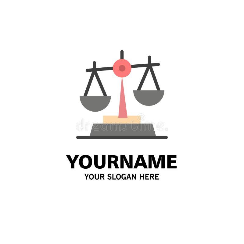 Gdpr, justicia, ley, negocio Logo Template de la balanza color plano ilustración del vector