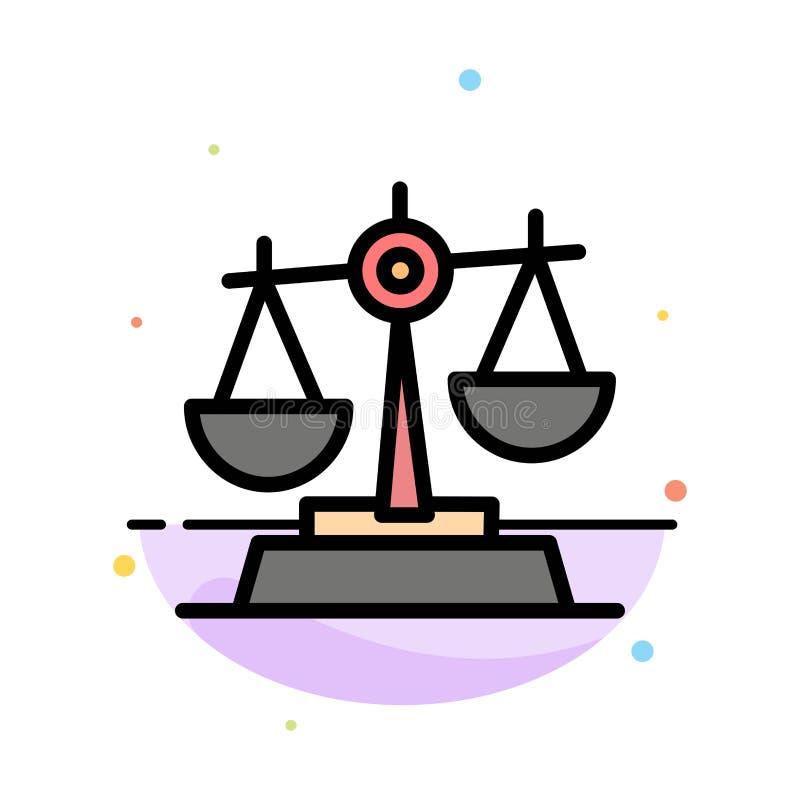 Gdpr, justicia, ley, plantilla plana del icono del color del extracto de la balanza ilustración del vector