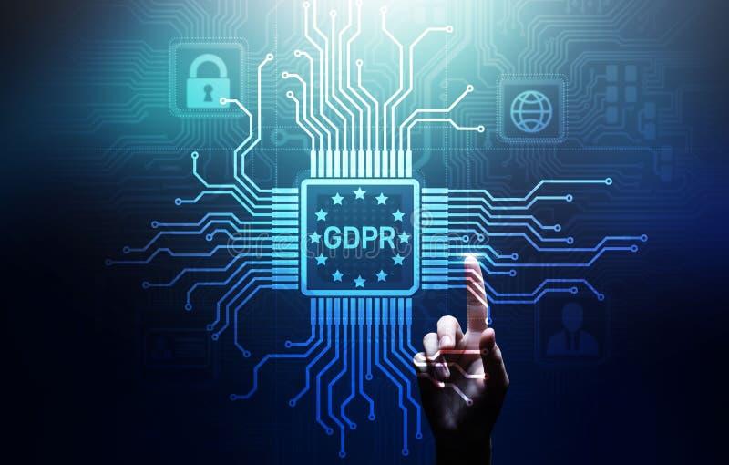GDPR ochrona danych prawa Cyber ochrony Przepisowa Europejska zgodno?? obraz stock