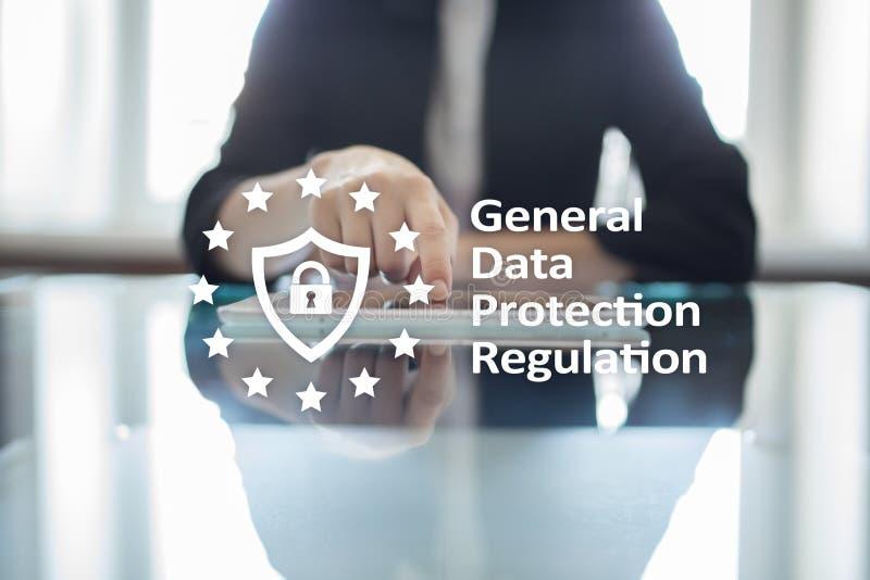 GDPR Ogólnego ochrona danych przepisowa zgodność, Europejski ewidencyjnej ochrony prawo fotografia royalty free