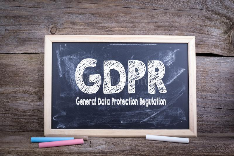 GDPR ogólnych dane ochrony przepis obrazy royalty free