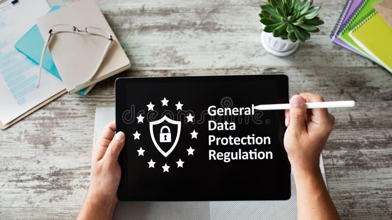 GDPR - Og?lnych dane ochrony przepisu prawo Biznesu i interneta poj?cie na ekranie obraz royalty free
