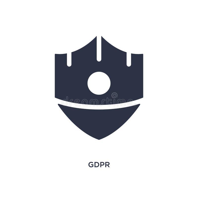 gdpr pictogram op witte achtergrond Eenvoudige elementenillustratie van gdprconcept stock illustratie