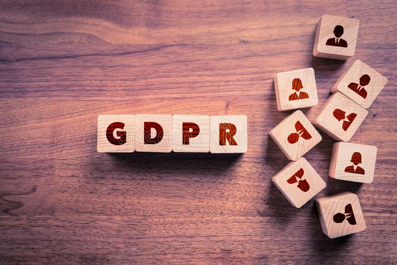 GDPR pojęcie obrazy stock