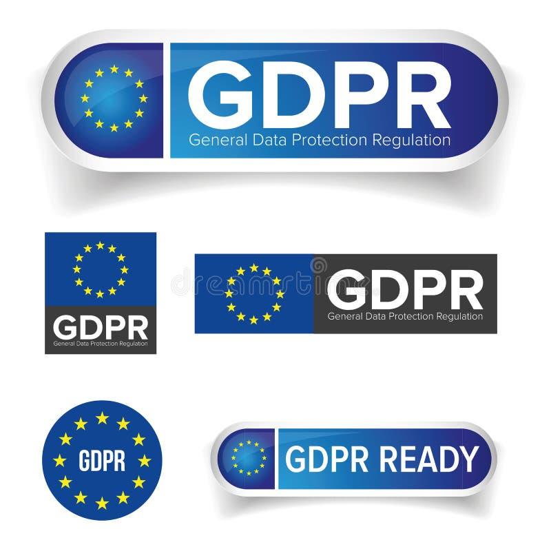 GDPR - règlement général de protection des données d'UE illustration de vecteur