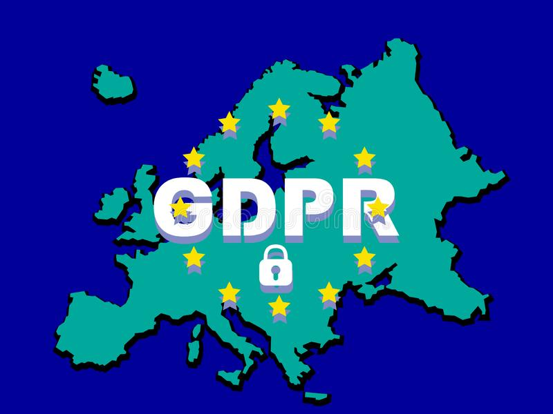 GDPR - Règlement général de protection des données illustration libre de droits