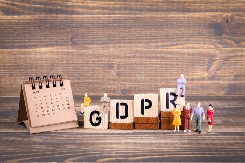 GDPR Regolamento generale di protezione dei dati immagini stock
