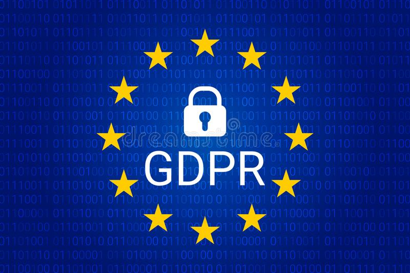 GDPR - Regulación general de la protección de datos Vector stock de ilustración