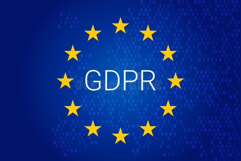 GDPR - Regulación general de la protección de datos Vector stock de ilustración