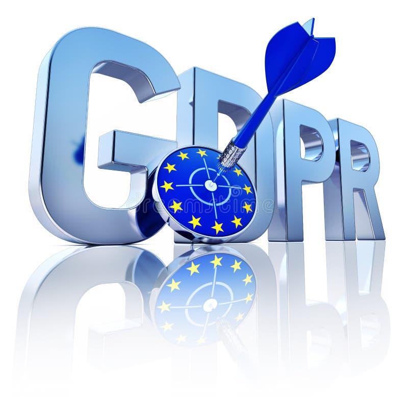 GDPR-symbool stock illustratie