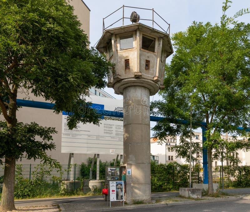 GDR wieża obserwacyjna przy Potsdamer Platz w Berlin zdjęcia royalty free