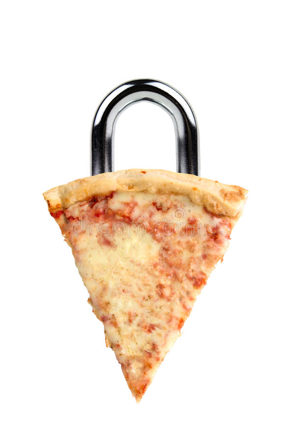 gdy diety kędziorka pizzy kuszenie zdjęcie stock