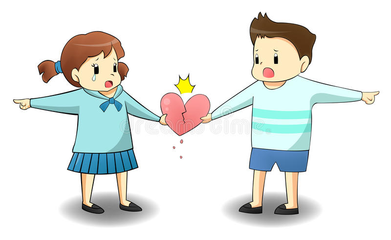 Gdy kochanek jest na różnej ścieżce ilustracji
