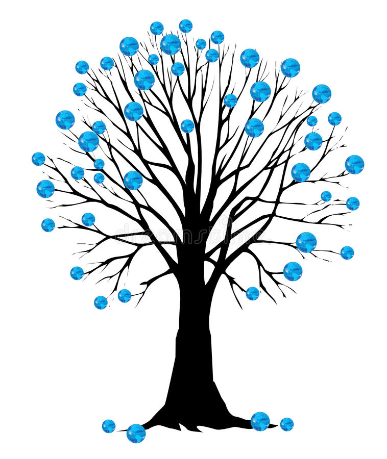 gdy liść ziemski drzewo royalty ilustracja