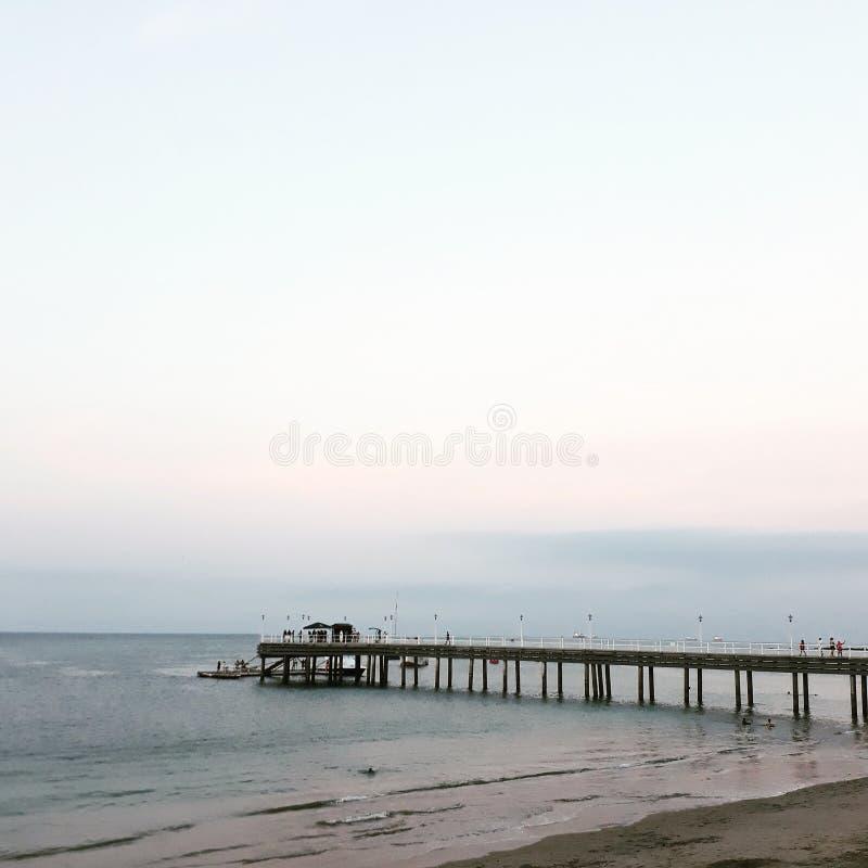 Gdy niebo spotyka ocean fotografia royalty free