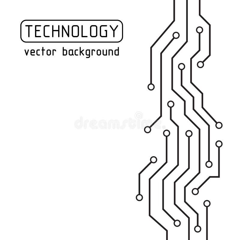 gdy tło deska może use Technlogy wektoru tło abstrakcjonistyczna futurystyczna ilustracja pojęcie zaawansowany technicznie ilustracja wektor