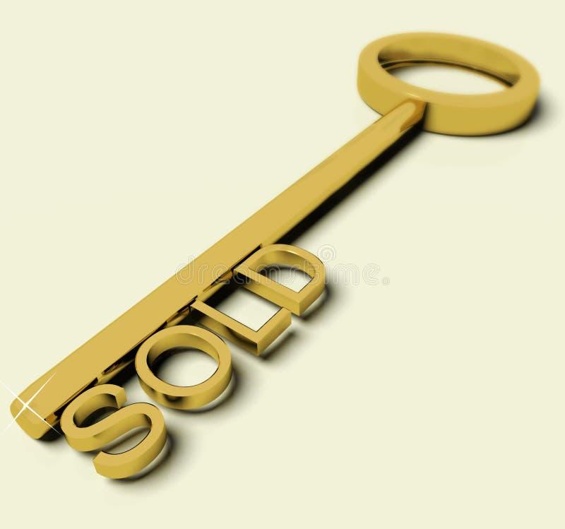 gdy target66_1_ domu klucz sprzedawał symbolu tekst ilustracji
