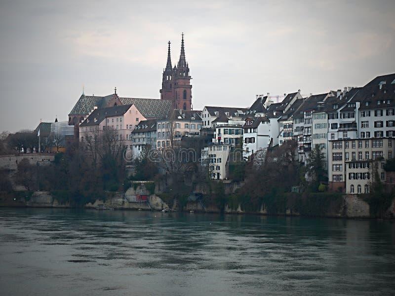 Gdy ty spacerujesz przez starego miasteczka Basel, jeden nietknięty piękny w Europa i obrazy royalty free
