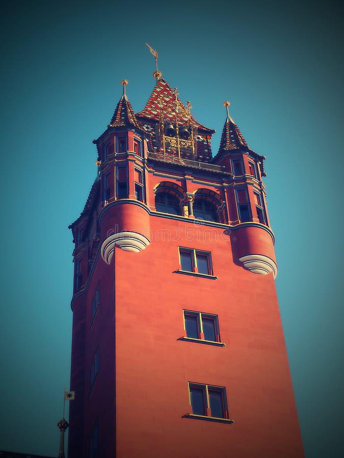 Gdy ty spacerujesz przez starego miasteczka Basel, jeden nietknięty piękny w Europa i obrazy stock