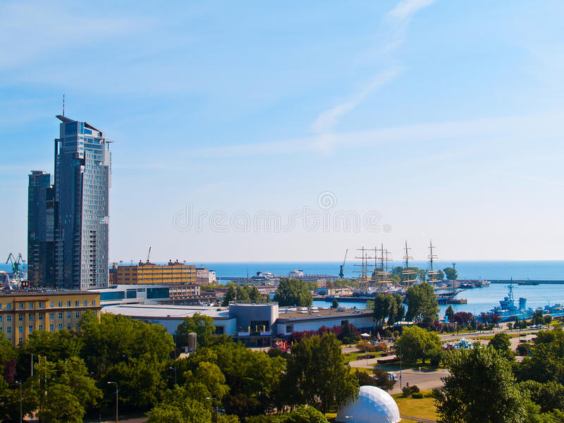 Gdynia, Poland. Central city port of Gdynia in Poland royalty free stock photography