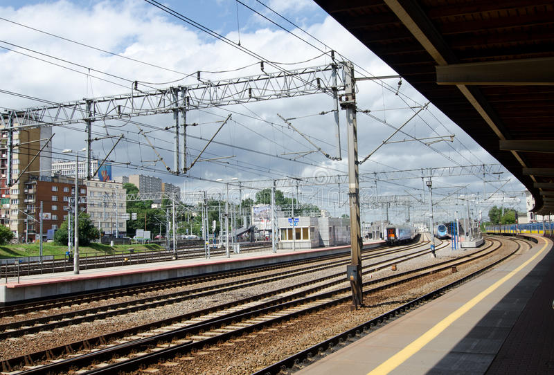 Gdynia, Poland. Railway station in Gdynia, Poland stock photo