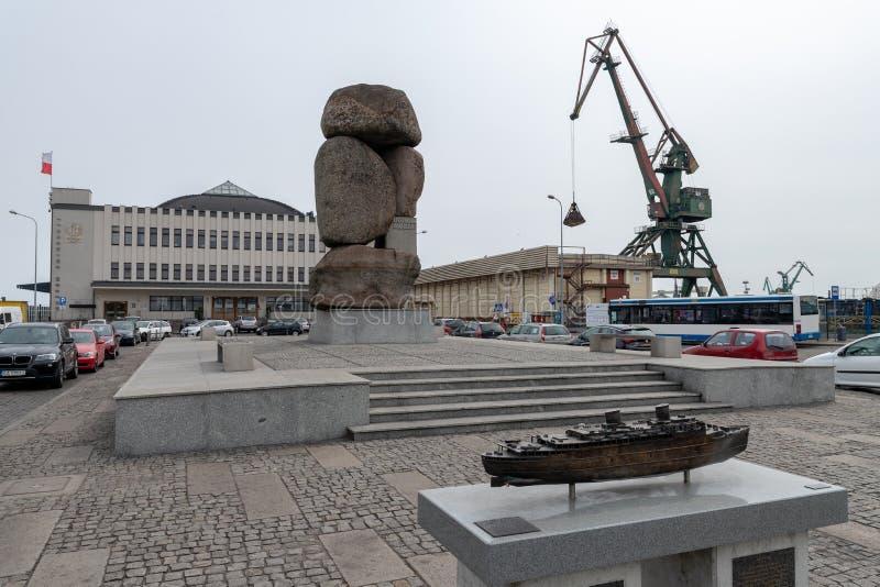 Gdynia, pomorskie/Pologne - mai, 9, 2019 : Port de passager ? Gdynia Vieux b?timents de port en Europe centrale photos libres de droits
