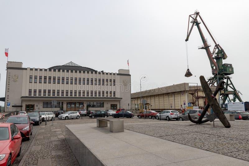 Gdynia, pomorskie/Pologne - mai, 9, 2019 : Port de passager ? Gdynia Vieux b?timents de port en Europe centrale photo libre de droits