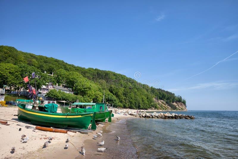 Gdynia strand och kustlinje i Polen royaltyfria bilder